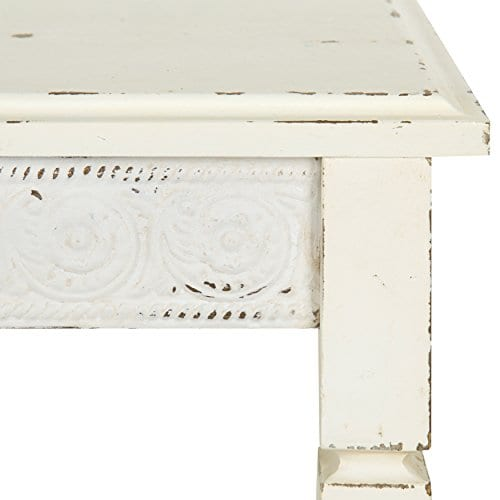 Kate And Laurel Idabelle Wood Side Table With Drawer Farmhouse White 0 2