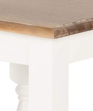 Kate And Laurel Sophia Rustic Wood Top Plant Stand End Table With Shelf White 0 1 300x360