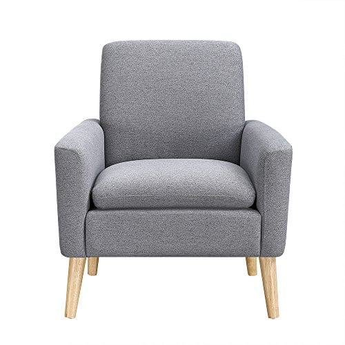 Awe Inspiring Lohoms Modern Accent Fabric Chair Single Sofa Comfy Upholstered Arm Chair Living Room Furniture Grey Theyellowbook Wood Chair Design Ideas Theyellowbookinfo