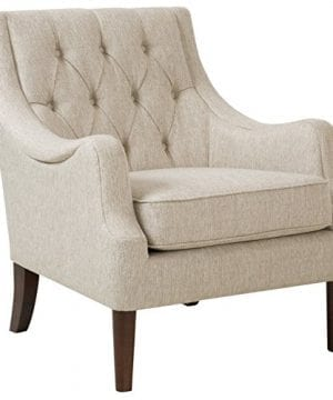 Madison Park Qwen Accent Chairs Hardwood Birch Faux Linen Living Room Chairs Cream Ivory Vintage Classic Style Living Room Sofa Furniture 1 Piece Diamond Tufted Bedroom Chairs Seats 0 300x360