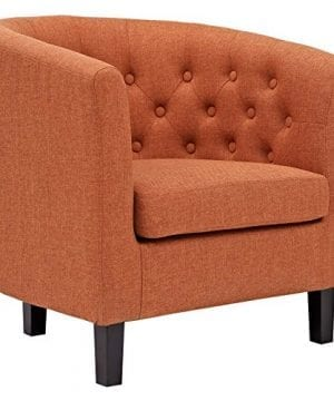 Modway EEI 2551 ORA Prospect Upholstered Fabric Contemporary Modern Accent Arm Chair Orange 0 300x360