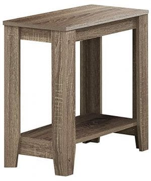 Monarch Specialties I 3115 Accent End Side Lamp Table With Shelf 24 X 12 X 22 Dark Taupe 0 300x360