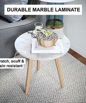 Nathan James 32402 Amalia Nightstand Marble Solid Wood Accent Table WhiteLight Brown 0 1 300x360