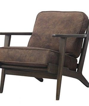 New Pacific Direct 3900018 150 Albert Accent Chair Furniture Mocha Hide 0 300x360