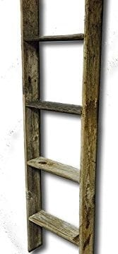 Old Farmhouse 4 Tall Primitive Barnwood Display Ladder Authentic Weathered Wood 0 167x360
