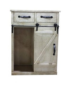 Paris Loft Rustic White Disstressed Wood Storage Cabinet Sliding Barn Door Vintage Farmhouse Wood Storage Console Cabinet Kitchen32 H 0 2 300x360