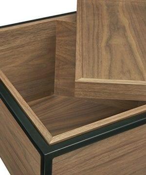 Rivet Axel Lid Storage Wood And Metal Side Table Walnut 0 1 300x360