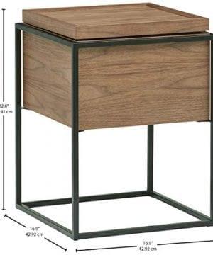 Rivet Axel Lid Storage Wood And Metal Side Table Walnut 0 2 300x360
