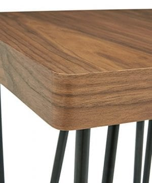 Rivet Hairpin Wood And Metal End Table Walnut And Black 0 0 300x360