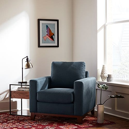 Rivet North End Wood Accent Living Room Arm Chair, 38\