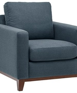 Rivet North End Exposed Wood Accent Chair Denim 0 300x360