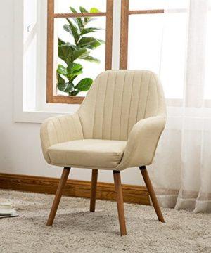 Roundhill Furniture AC151TA Tuchico Contemporary Fabric Accent Chair Tan 0 300x360