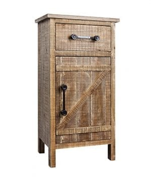 Rustic Wood Console Cabinet Distressed Farmhouse Wooden Kitchen Storage Cabinet Fully Assembled 33 H Side End Table 0 300x360