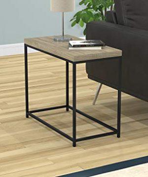 Safdie Co 81042Z05 Accent Table Dark TaupeBlack Metal 0 300x360