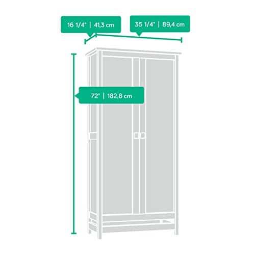 Sauder 416082 Cannery Bridge Storage Cabinet L 3520 X W 1626 X H 7197 Lintel Oak Finish 0 0