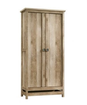 Sauder 416082 Cannery Bridge Storage Cabinet L 3520 X W 1626 X H 7197 Lintel Oak Finish 0 300x360