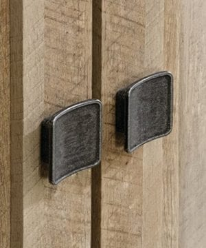 Sauder 416082 Cannery Bridge Storage Cabinet L 3520 X W 1626 X H 7197 Lintel Oak Finish 0 4 300x360
