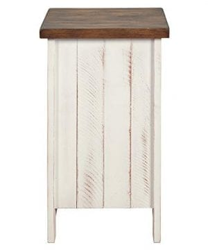 Signature Design By Ashley T459 7 Wystfield Chairside End Table WhiteBrown 0 1 300x360