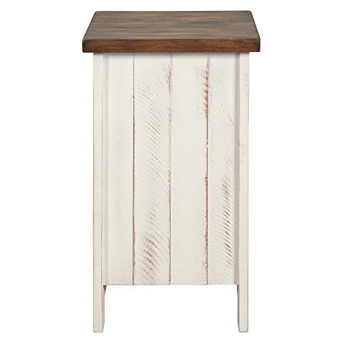 Signature Design By Ashley T459 7 Wystfield Chairside End Table WhiteBrown 0 1