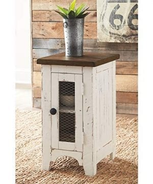 Signature Design By Ashley T459 7 Wystfield Chairside End Table WhiteBrown 0 2 300x360
