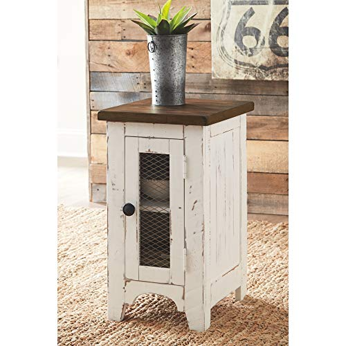 Signature Design By Ashley T459 7 Wystfield Chairside End Table WhiteBrown 0 2