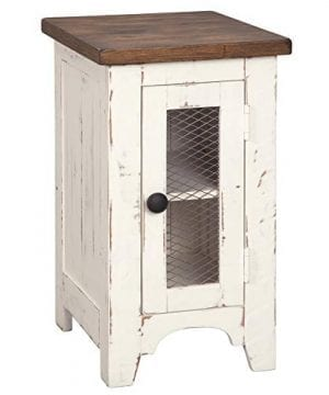 Signature Design By Ashley T459 7 Wystfield Chairside End Table WhiteBrown 0 300x360