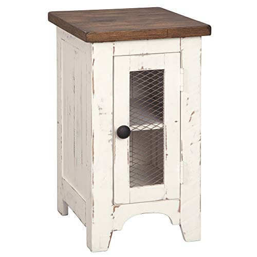 Signature Design By Ashley T459 7 Wystfield Chairside End Table WhiteBrown 0