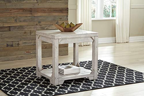 Signature Design By Ashley T755 3 Fregine End Table White Wash 0