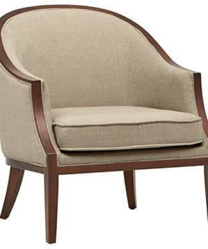 Stone Beam Ashbury Modern Exposed Wood Accent Chair 29W Hemp 0 300x360