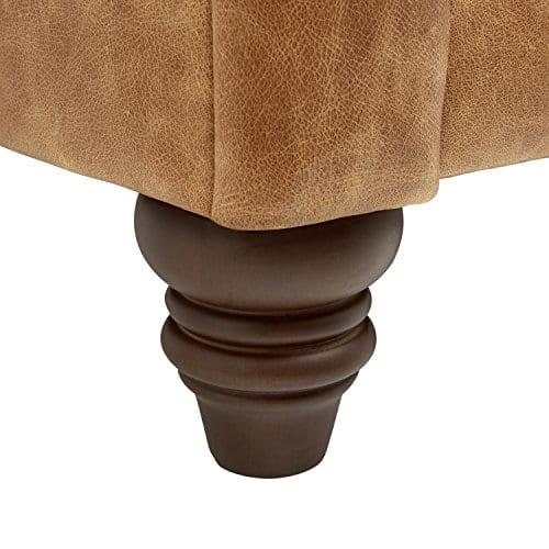Stone Beam Bradbury Chesterfield Modern Chair 50W Cognac 0 0
