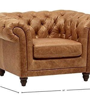 Stone Beam Bradbury Chesterfield Modern Chair 50W Cognac 0 1 300x318