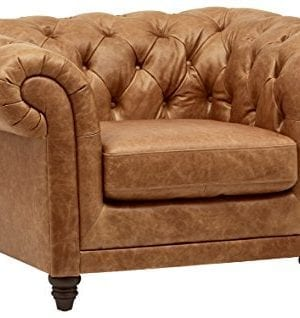 Stone Beam Bradbury Chesterfield Modern Chair 50W Cognac 0 300x318