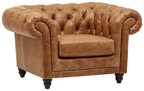 Stone Beam Bradbury Chesterfield Modern Chair 50W Cognac 0