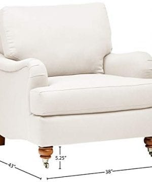 Stone Beam Brandeberry Farmhouse Charles Of London Accent Chair 38W Beige 0 2 300x360