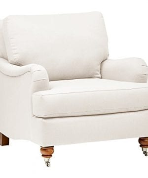 Stone Beam Brandeberry Farmhouse Charles Of London Accent Chair 38W Beige 0 300x360