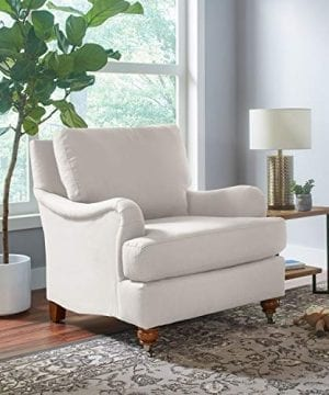 Stone Beam Brandeberry Farmhouse Charles Of London Accent Chair 38W Beige 0 4 300x360