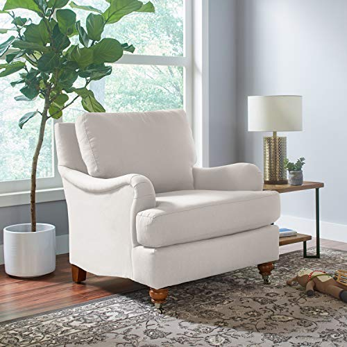 Stone Beam Brandeberry Farmhouse Charles Of London Accent Chair 38W Beige 0 4