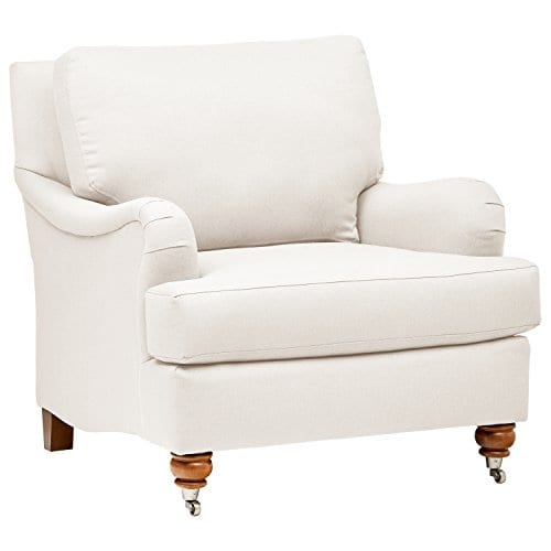 Stone Beam Brandeberry Farmhouse Charles Of London Accent Chair 38W Beige 0