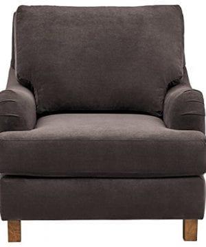 Stone Beam Brandeberry Farmhouse Charles Of London Accent Chair 38W Dark Grey 0 0 300x360