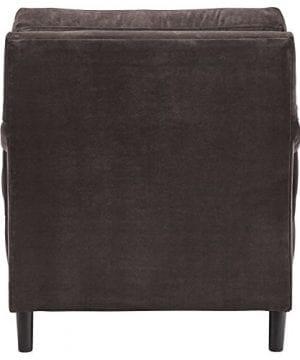Stone Beam Brandeberry Farmhouse Charles Of London Accent Chair 38W Dark Grey 0 1 300x360