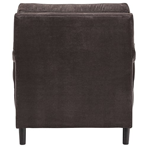 Stone Beam Brandeberry Farmhouse Charles Of London Accent Chair 38W Dark Grey 0 1