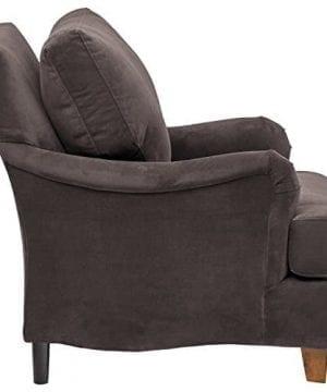 Stone Beam Brandeberry Farmhouse Charles Of London Accent Chair 38W Dark Grey 0 2 300x360