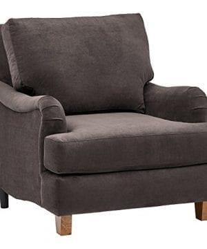 Stone Beam Brandeberry Farmhouse Charles Of London Accent Chair 38W Dark Grey 0 300x360
