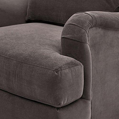 Stone Beam Brandeberry Farmhouse Charles Of London Accent Chair 38W Dark Grey 0 4
