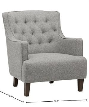 Stone Beam Decatur Modern Tufted Accent Chair 31W Silver 0 2 300x360