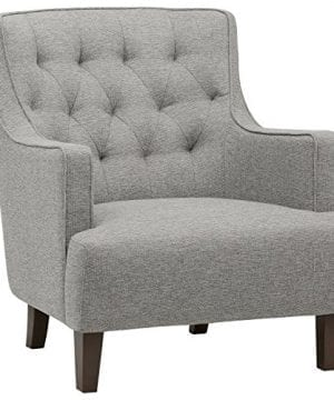 Stone Beam Decatur Modern Tufted Accent Chair 31W Silver 0 300x360