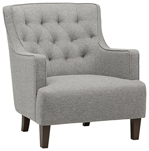 Stone Beam Decatur Modern Tufted Accent Chair 31W Silver 0