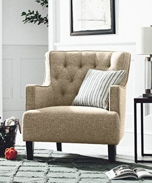 Stone Beam Decatur Modern Tufted Accent Chair 32W Chair Oatmeal 0 3 300x360