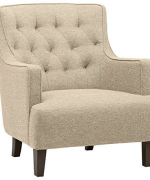Stone Beam Decatur Modern Tufted Accent Chair 32W Chair Oatmeal 0 300x360