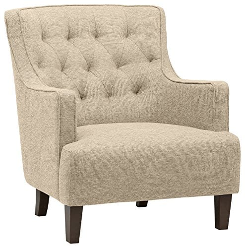Stone Beam Decatur Modern Tufted Accent Chair 32W Chair Oatmeal 0